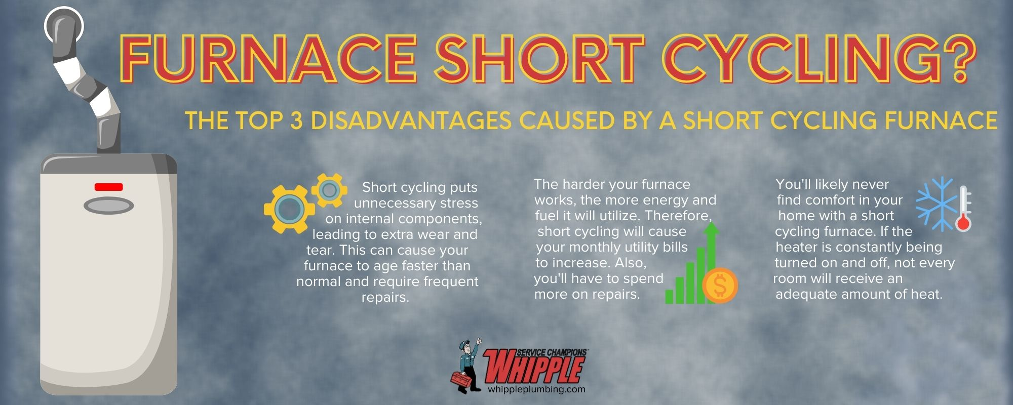the top 3 disadvantages caused by a short cycling furnace